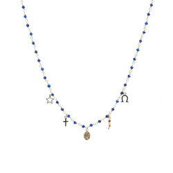 Multicharms Rosary Necklace
