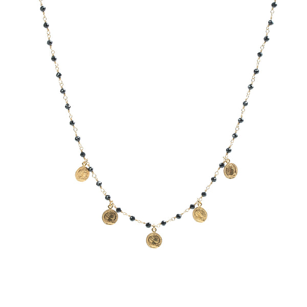 Rosary Coins Necklace