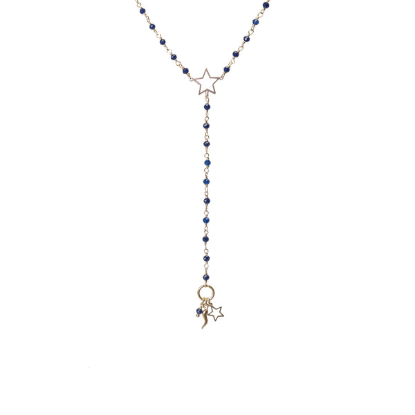 Shooting Star Rosary Necklace