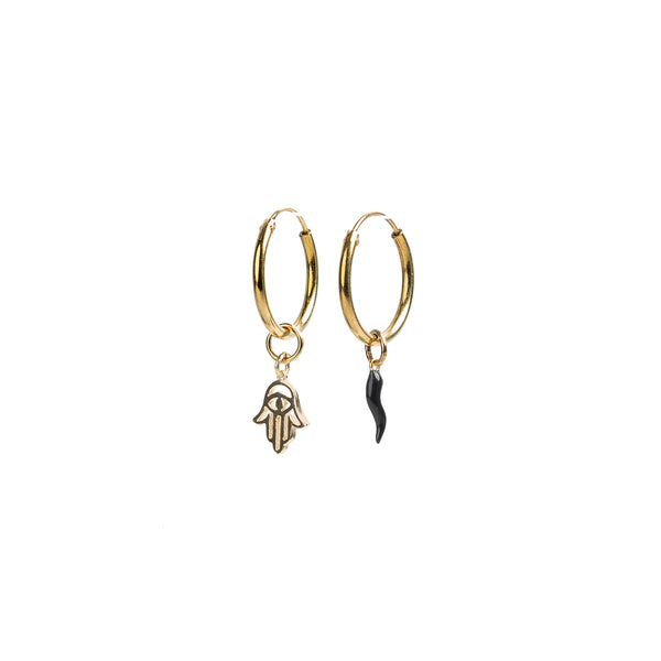 Hoop Earrings With Charms