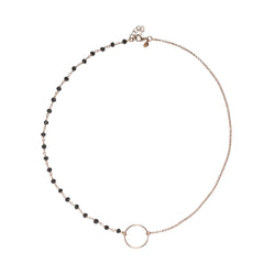 Circle and rosary necklace