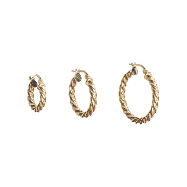 Braid Hoop Earrings