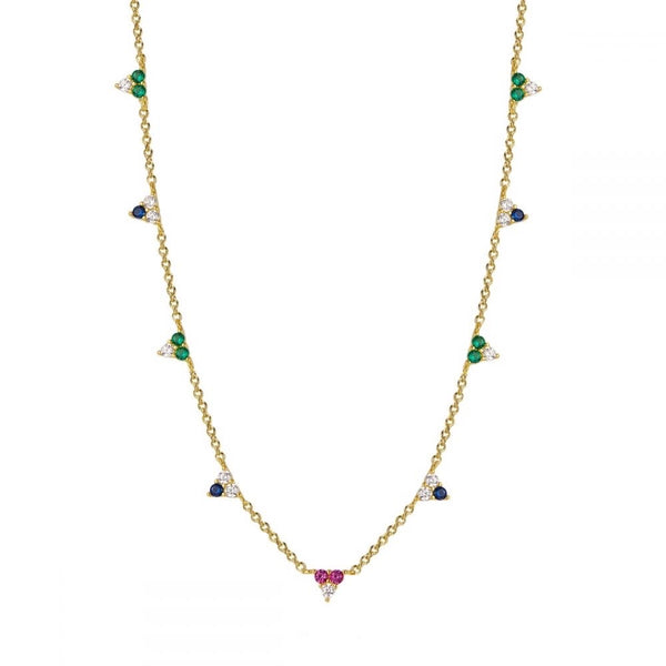 Triangle Zircons Necklace