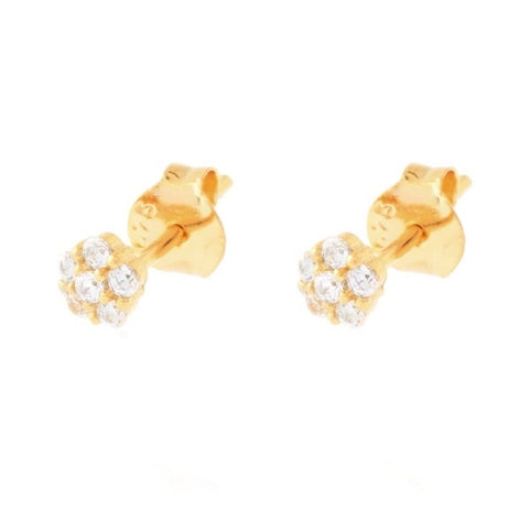 Mono Flower Zircons Earring
