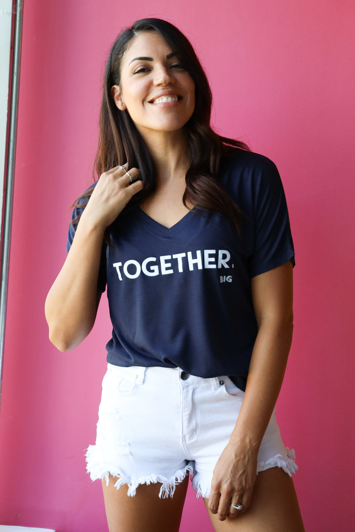 TOGETHER Slouchy V-Neck Tee