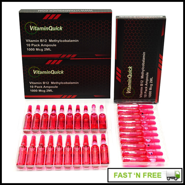 3 Boxes Vitamin B12 Methylcobalamin injectable shots.. Includes Syringes and Free Priority Shipping
