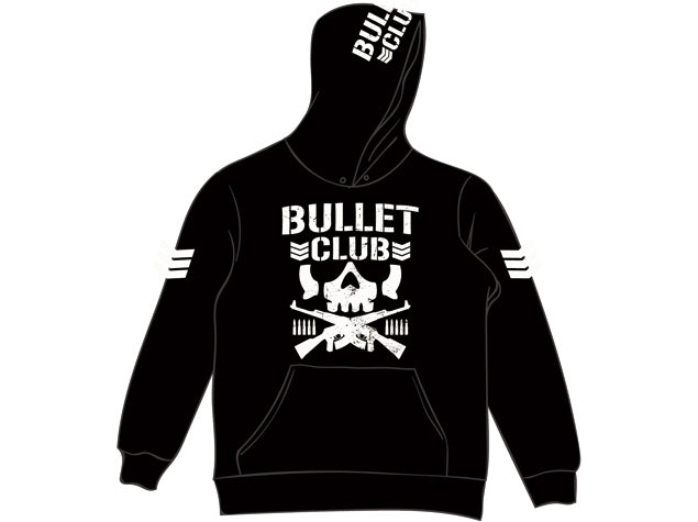 New Japan Pro Wresting's most popular Faction in the first ever official Bullet Club Pullover Hoodie featuring the 'Bone Soldier' Logo
