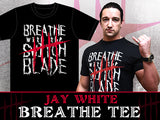 Jay White in Breathe with Switchblade T-shirt