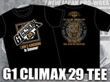 NJPW/ New Japan Pro Wrestling G1 Climax 29 official black T-shirt