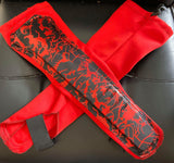Red and Black Patterned Kickpads