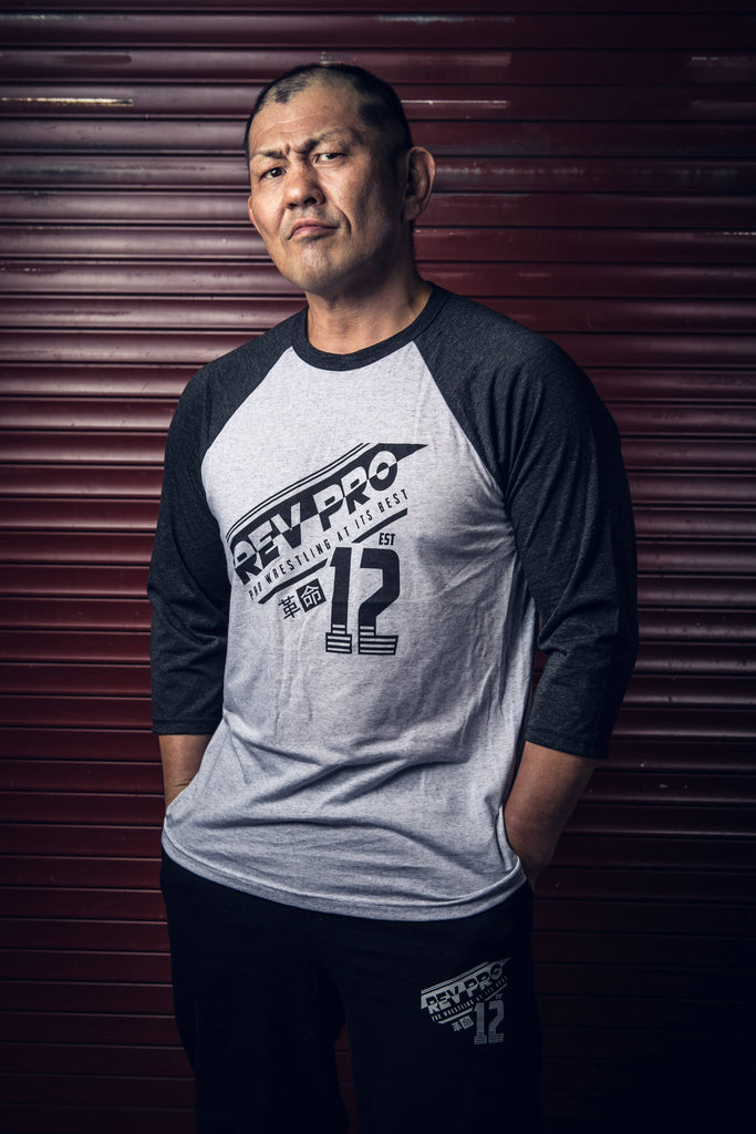 Suzuki-Gun Leader, Minoru Suzuki in RevPro Athletic 3/4 Sleeve T-shirt NJPW New Japan Pro Wrestling