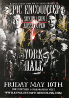 Signed Epic Encounter 2019 Poster - Suzuki Gun & Aussie Open