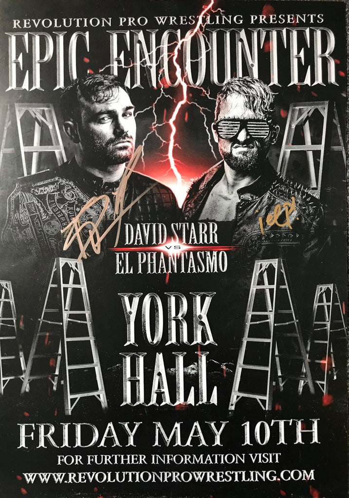 Signed El Phantasmo vs David Starr Ladder Match Epic Encounter 2019 poster