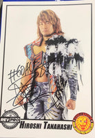NJPW Tanahashi Signed A4 Print British Heavyweight Champion
