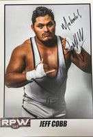 Signed Jeff Cobb Ring Of Honor (ROH) New Japan Pro Wrestling (NJPW) All Elite Wrestling (AEW)