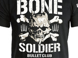Bone Soldier of the Bullet Club, Taiji Ishimori,  BC logo from New Japan Pro Wrestling NJPW