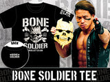 The Bone Soldier of the Bullet Club, Taiji Ishimori, BC logo from New Japan Pro Wrestling NJPW