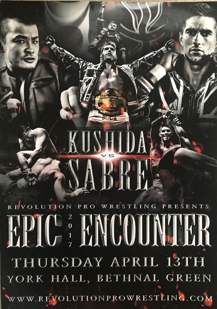 The 'Time Splitter' Kushida vs 'The Technical Wizard'  Zack Sabre Jr Epic Encounter 2017 Poster
