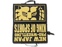 NJPW Black and Gold Lion Mark Stadium Cushion.