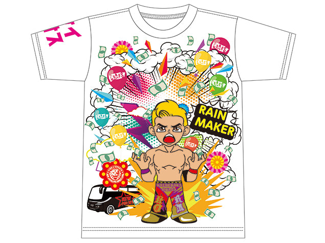 Show your support for the Rain Maker Kazuchika Okada, by grabbing his brand new Everyone is Colourful Tee.