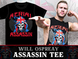 Show your support for the first Brit to win BOSJ by picking up your new Will Ospreay T-shirt! New Japan resident high flyer with his aerial assassin shirt.