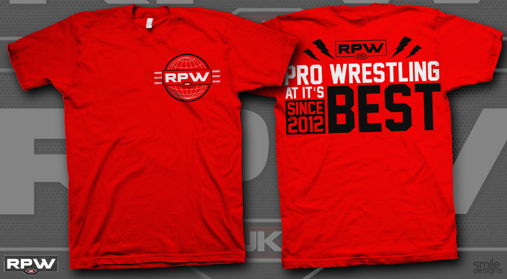 RPW RevPro Revolution Pro Wrestling Red t-shirt