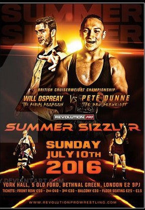 Will Ospreay & Pete Dunne Summer Sizzler 2016 Poster