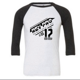 RevPro Athletic 3/4 sleeve baseball tee RPW Revolution Pro Wrestling
