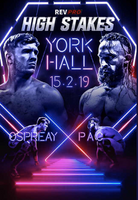Ospreay vs PAC High Stakes 2019 Poster