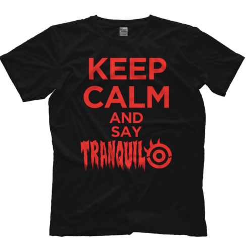 "Show your support for the leader of Los Ingobernables de Japon and the former 3x IWGP Heavyweight Champion, 6x IWGP Intercontinental Champion, NJPW Tetsuya Naito ""Keep Calm and say Tranquilo"" Black T-shirt"