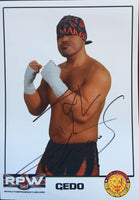 NJPW Signed A4 Print of Chaos member Gedo
