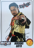 NJPW Signed A4 Print of Chaos member Hirooki Goto