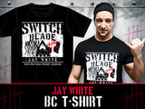 "NJPW Switchblade Bullet Club T-shirt ""68th IWGP Heavyweight Champion"" Edition"