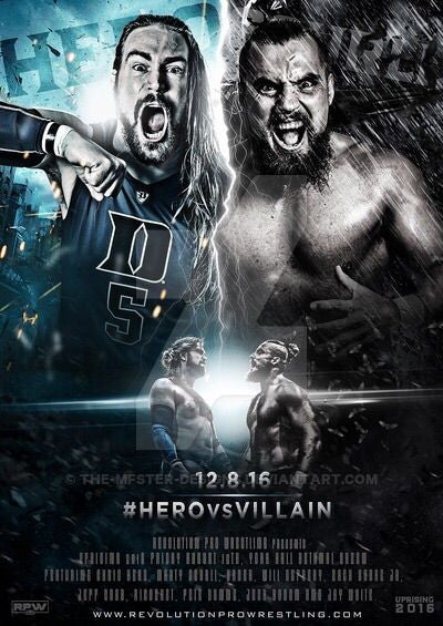 Uprising 2016 Hero vs Villain poster