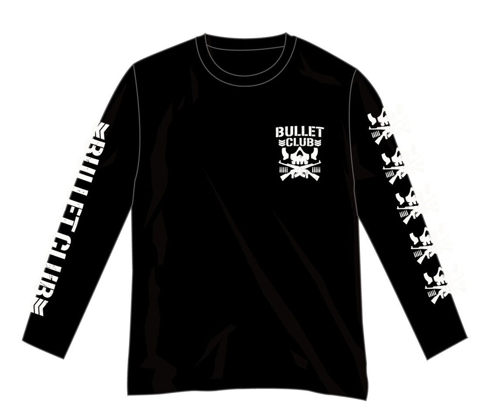 New Japan Pro Wrestling's Long Sleeve Skull and Bones Bullet Club T-shirt NJPW