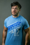 Danny Duggan in Blue Rev Pro Athletic T-shirt