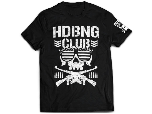 NJPW/New Japan Pro Wresling Bullet Club ELP's HDBNG Club Black T-shirt - El Phantasmo