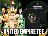The United Empire NJPW T-shirt Official UK NJPW T-shirt Stockist, Great-o-khan, Will Ospreay, Bea Priestly, Jeff Cobb