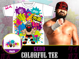 CHAOS Bullet Club 4x IWGP Junior Heavyweight Tag Team Champion, Gedo, by grabbing his brand new Everyone is Colourful Tee. NJPW New Japan Pro Wrestling