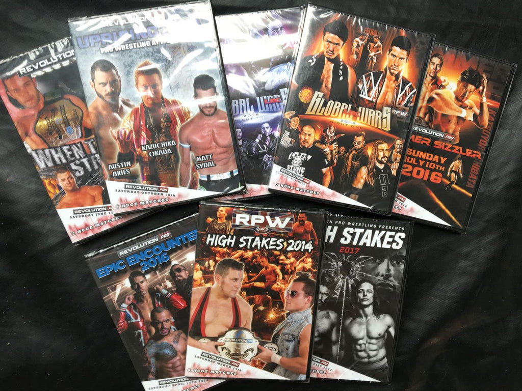 DVD Grab Bag full of the best wrestlers in the world