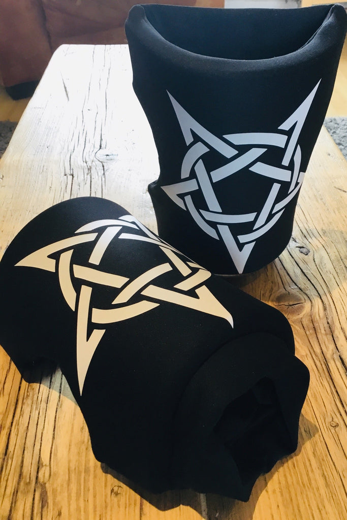 Black with White logo Knee Pads