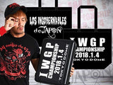 Styled after New Japan Pro Wrestling's breifcase holding the rights to contend for the IWGP Heavyweight title at The Tokyo Dome on January 4th 2018.  That was won by the founder of Los Ingobernables de Japon, Tetsuya Naito at the 2017 G1 climax against The Cleaner Kenny Omega.