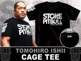 CHAOS member, 4x NEVER Openweight Champion, the Stone Pitbull, Tomohiro Ishii Official NJPW New Japan Pro Wrestling Black T-shirt