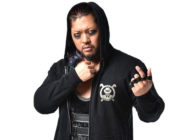 Current IWGP Tag Team Champion, the king of Darkness EVIL in The Official New Japan Pro Wrestling 2017 Los Ingobernables de Japon (LIJ) day of the dead hoodie.