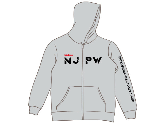 NJPW New Japan Pro Wrestling Hoodie Grey