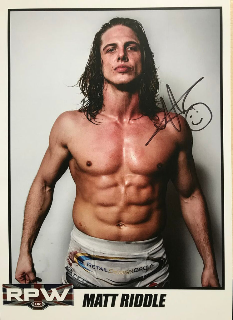 Signed A4 Print of ex UFC fighter Matt Riddle