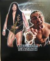 Signed New Orleans Wrestlecon Minoru Suzuki Print - Suzuki Gun - NJPW - New Japan Pro Wrestling
