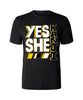 Yes She Kanji T-shirt - Yellow & Black