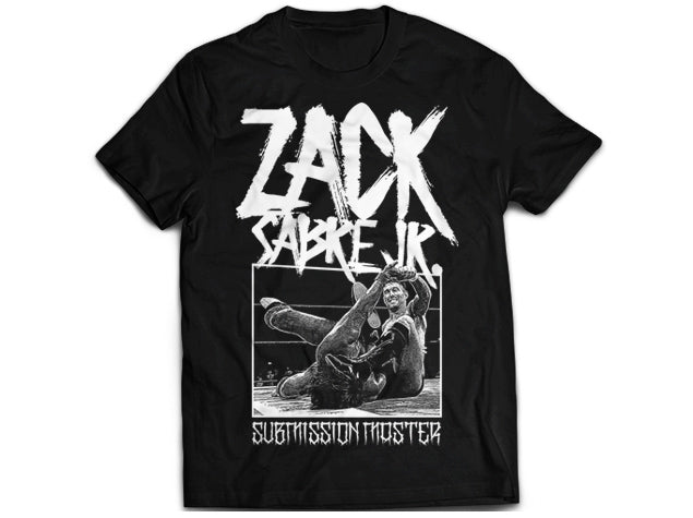 Show your support for one half of the Undisputed British Tag Team Champions, member of Suzuki-Gun, the Technical Wizard Zack Sabre Jr by picking up this new Submission Master T-shirt.