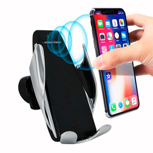 Smartphone Holder Next-Generation Automatically grabs & Wireless Fast Charge